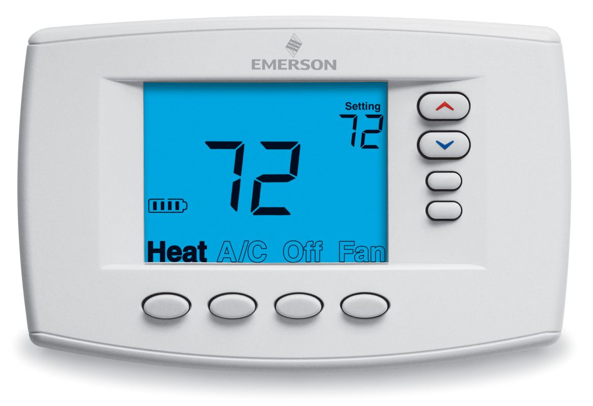 how to change battery on emerson thermostat
