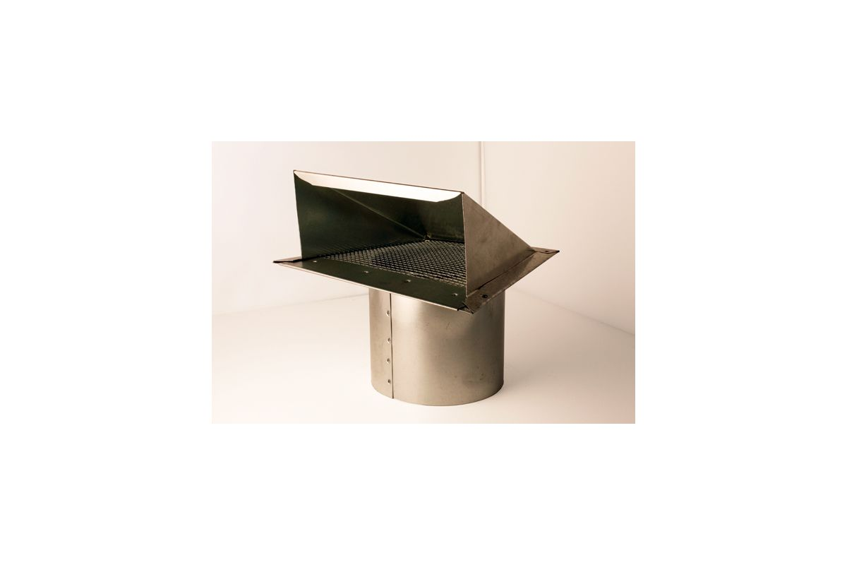 Fresh Air Wall Inlet Cap with Mesh Bird Screen VentingDirect.com #945C37