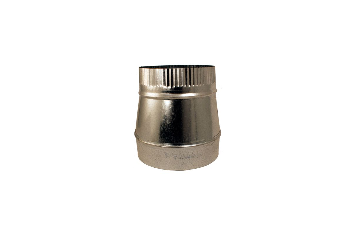 Zephyr Ak00035 Galvanized Steel 8 To 7 Tapered Duct Reducer For Range Hood Applications